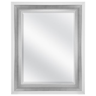 MCS Industries Silver Texture with White Edge Wall Mirror