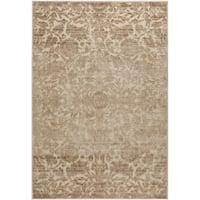 Martha Stewart by Safavieh Heritage Bloom Dune / Brown / Cream Viscose / Chenille Area Rug - 6'7 x 9'