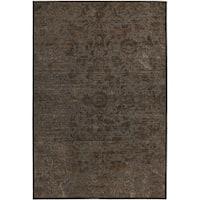 Martha Stewart by Safavieh Heritage Bloom Zinc / Brown Viscose / Chenille Area Rug - 5'3 x 7'6