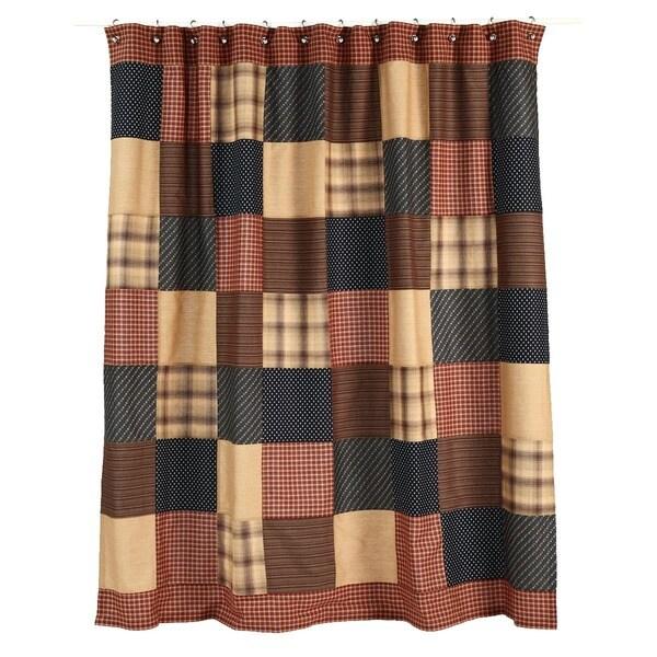 Patriotic Patch Shower Curtain