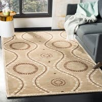 Martha Stewart by Safavieh Ogee Dot Alpaca / Tan / Brown Wool Area Rug - 5' x 8'