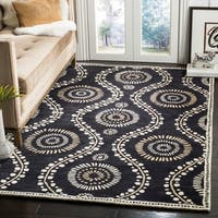 Martha Stewart by Safavieh Ogee Dot Francesca / Black / Ivory Wool Area Rug - 5' x 8'