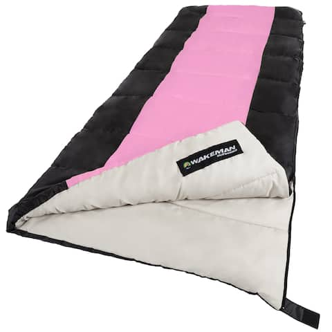 Sleeping Bag, 2-Season with Carrying Bag, For Adults and Kids by Wakeman Outdoors (For Camping, Backpacking and Festivals)