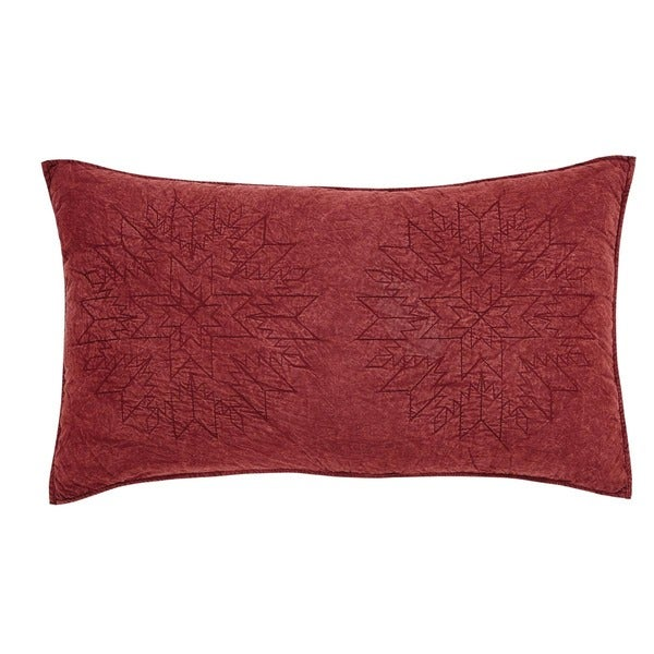 Cheyenne American Red Cotton Lux King Sham
