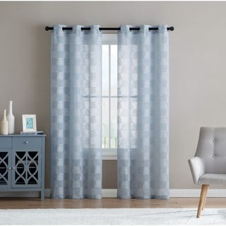 VCNY Home Jolie Emobroidered Semi-Sheer Curtain Panel Pair