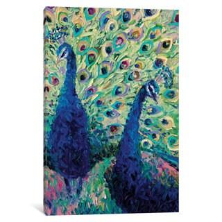 iCanvas 'Gemini Peacock' by Iris Scott Canvas Print