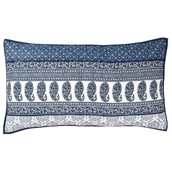 Ceylon Indigo Cotton Lux King Sham