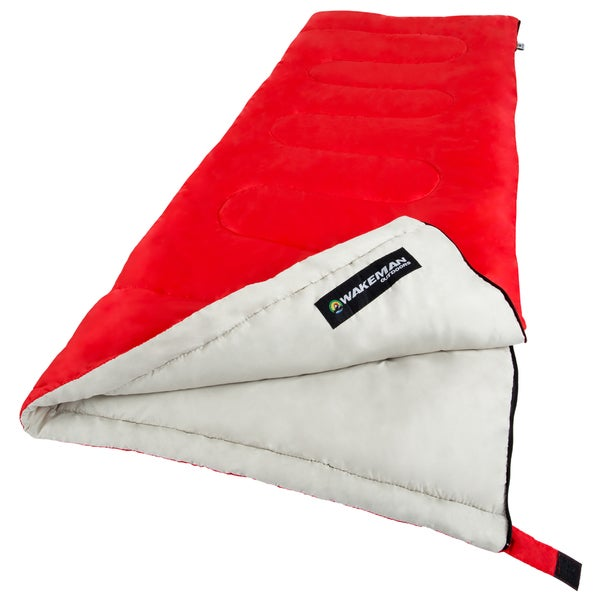 "Sleeping Bag, 2-Season With Carrying Bag, For Adults Up to 5'11"" By Wakeman Outdoors (For Camping, Backpacking and Festivals)"
