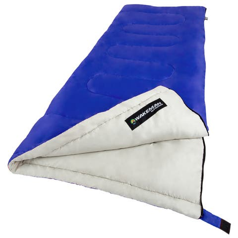 Sleeping Bag, 2-Season With Carrying Bag, For Adults Up to 5 Ft. 11 Inches By Wakeman Outdoors, For Camping
