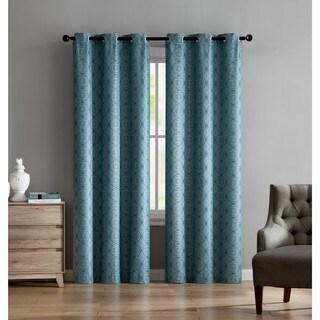 VCNY Home Jade Jacquard Curtain Panel Pair