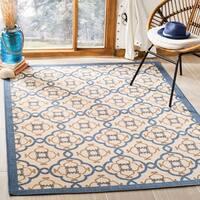 Martha Stewart by Safavieh Province Azurite / Blue / Beige Area Rug - 6'7 x 9'6