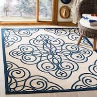 Martha Stewart by Safavieh Rosamond Mariner / Cream / Navy Area Rug - 5'3 x 7'7