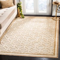 Martha Stewart by Safavieh Shortbread / Beige Viscose Area Rug - 6'7 x 9'2