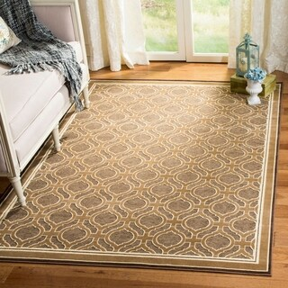 Martha Stewart by Safavieh Spud / Brown / Beige Viscose Area Rug - 5'3 x 7'6