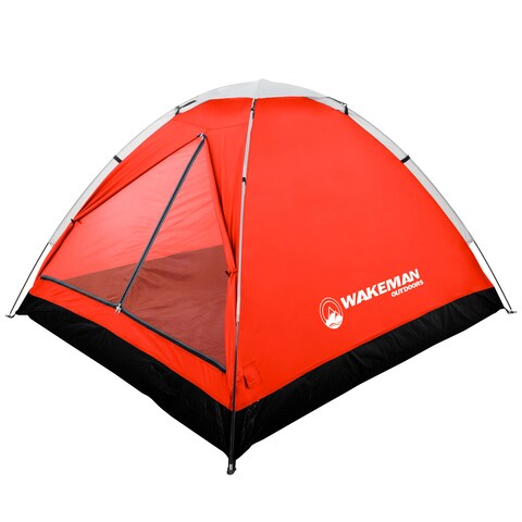 2-Person Tent, Water Resistant Dome Tent for Camping With Removable Rain Fly And Carry Bag By Wakeman