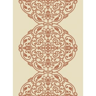 Martha Stewart by Safavieh Topiary Signet Cinnamon Stick / Pink Area Rug (5'3 x 7'7)