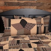 Black Americana Bedding VHC Bingham Star Sham Cotton Star Patchwork
