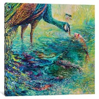 iCanvas 'Peacock Diptych Panel II' by Iris Scott Canvas Print