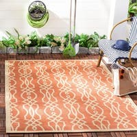 Martha Stewart by Safavieh Villa Screen Cinnamon Stick / Pink Area Rug - 5'3 x 7'7