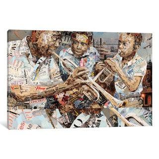 iCanvas 'Blues Boys ' by Ines Kouidis Canvas Print