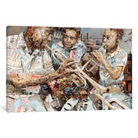 iCanvas 'Blues Boys ' by Ines Kouidis Canvas Print