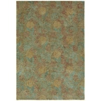 Martha Stewart by Safavieh Arcadia Acorn / Brown Wool Area Rug - 7'9 x 9'9