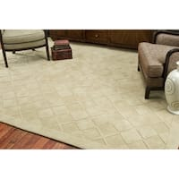 Martha Stewart by Safavieh Argyle Hickory / Beige Wool Area Rug - 8' x 10'