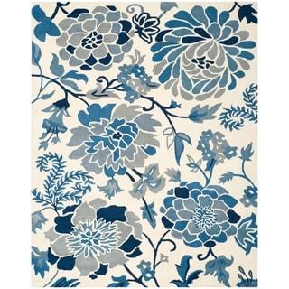 Martha Stewart by Safavieh Azurite / Blue / Ivory Wool Area Rug (9' x 12')