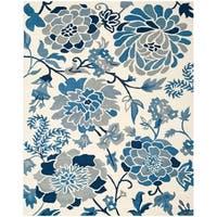 Martha Stewart by Safavieh Azurite / Blue / Ivory Wool Area Rug - 9' x 12'