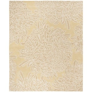 Martha Stewart by Safavieh Barcelona Blue / Beige Wool Area Rug (9' x 12')