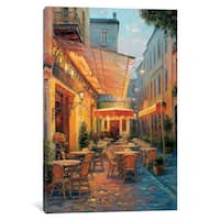 iCanvas 'Café Van Gogh 2008, Arles France' by Haixia Liu Canvas Print