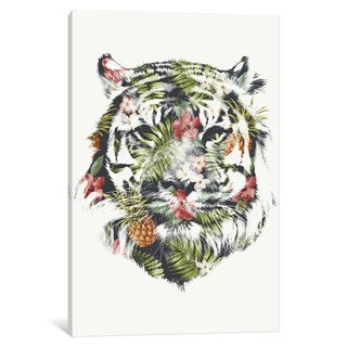 iCanvas 'Tropical Tiger' by Robert Farkas Canvas Print