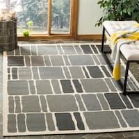 Martha Stewart by Safavieh Blocks Anthracite / Beige / Grey Area Rug (8' x 11'2)