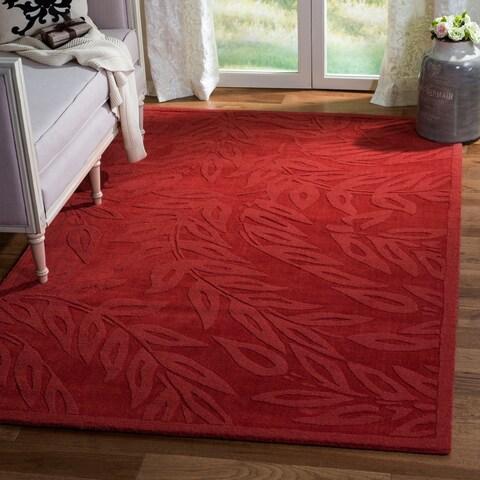 Martha Stewart by Safavieh Breeze Vermillion / Red Wool Area Rug - 8' x 10'