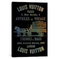 iCanvas 'Vintage Woodgrain Louis Vuitton Sign 4' by 5by5collective Canvas Print