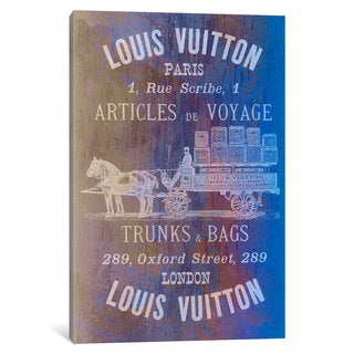 iCanvas 'Vintage Woodgrain Louis Vuitton Sign' by 5by5collective Canvas Print