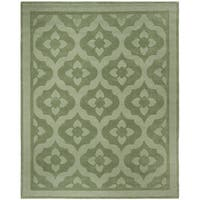 Martha Stewart by Safavieh Casbah Pumpkin / Seed / Green Wool Area Rug - 8' x 10'