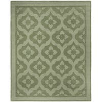 Martha Stewart by Safavieh Casbah Pumpkin / Seed / Green Wool Area Rug - 9' x 12'