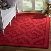 Martha Stewart by Safavieh Casbah Vermillion / Red Wool Area Rug - 9' x 12'