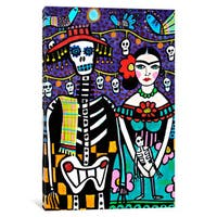 iCanvas 'Day of the Dead Frida' by Heather Galler Canvas Print