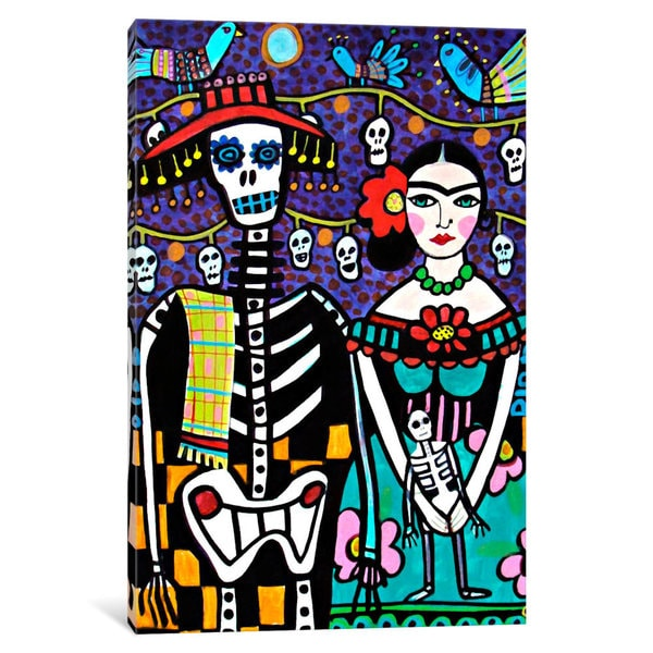 icanvas day of the dead frida by heather galler