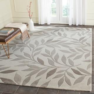 Martha Stewart by Safavieh Charleston Cement / White / Grey Wool Area Rug (8' x 10')