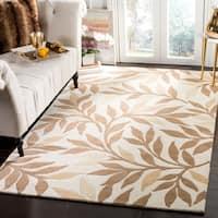 Martha Stewart by Safavieh Charleston Natural Twine / Ivory / Brown Wool Area Rug - 8' x 10'
