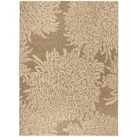 Martha Stewart by Safavieh Chrysanthemum Dark Beige / Beige / Beige Area Rug - 8' x 11'2