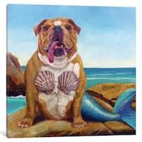 iCanvas 'Mermaid Dog' by Lucia Heffernan Canvas Print