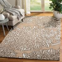Martha Stewart by Safavieh Chrysanthemum Driftwood / Grey / Brown Wool Area Rug (8' x 10')