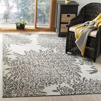 Martha Stewart by Safavieh Chrysanthemum Grey / Grey Area Rug - 8' x 11'2