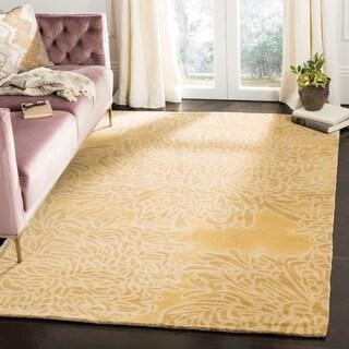 Martha Stewart by Safavieh Chrysanthemum Malted / Yellow Wool Area Rug (8' x 10')