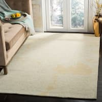 Martha Stewart by Safavieh Chrysanthemum Saguaro / Beige Wool Area Rug - 9' x 12'