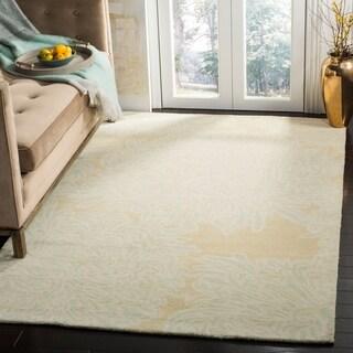 Martha Stewart by Safavieh Chrysanthemum Saguaro / Beige Wool Area Rug (9' x 12')